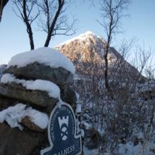 Snow capped peaks Glencoe