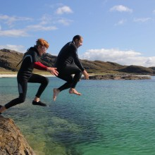 Leaping at Sanna Bay, Ed Daynes