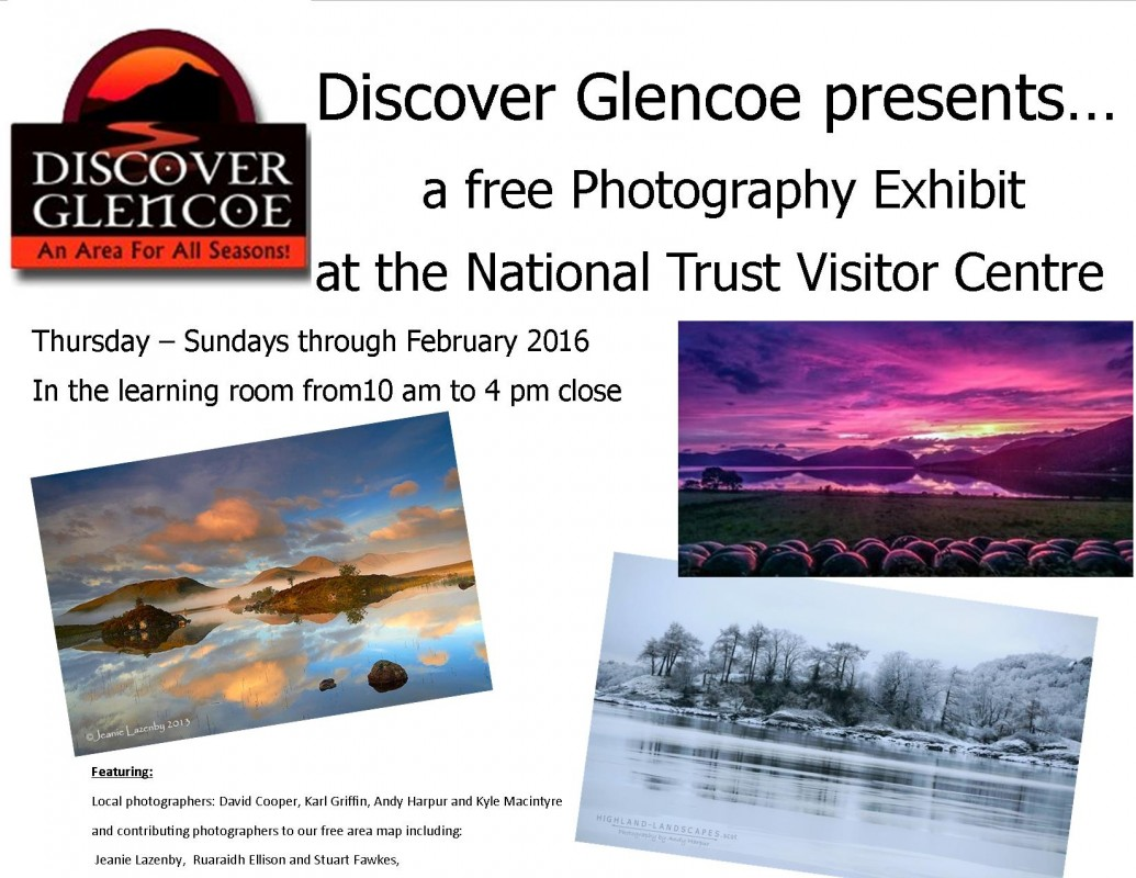 2016 Feb 4 - 28 Discover Glencoe presents Photo Exhibit