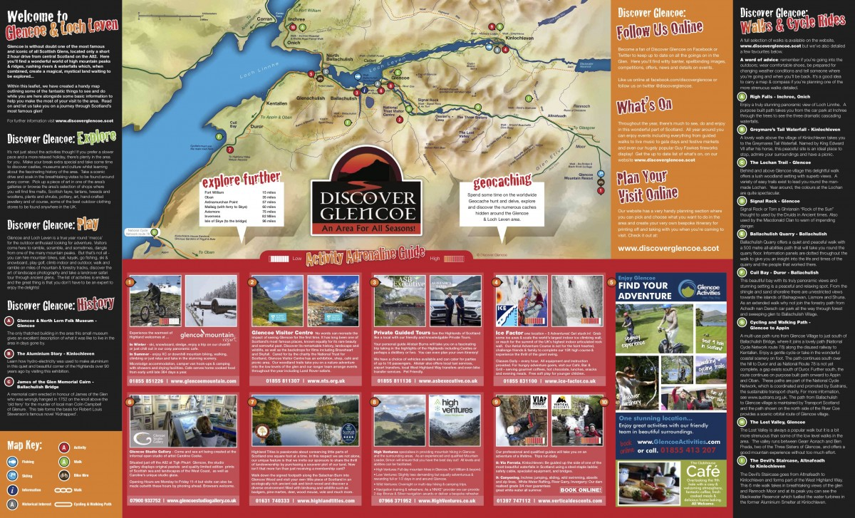 Discover Glencoe Map (front)