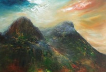Glencoe light at the three sisters, artist Grace Cameron