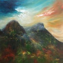Glencoe light at the three sisters, artist Grace Cameron